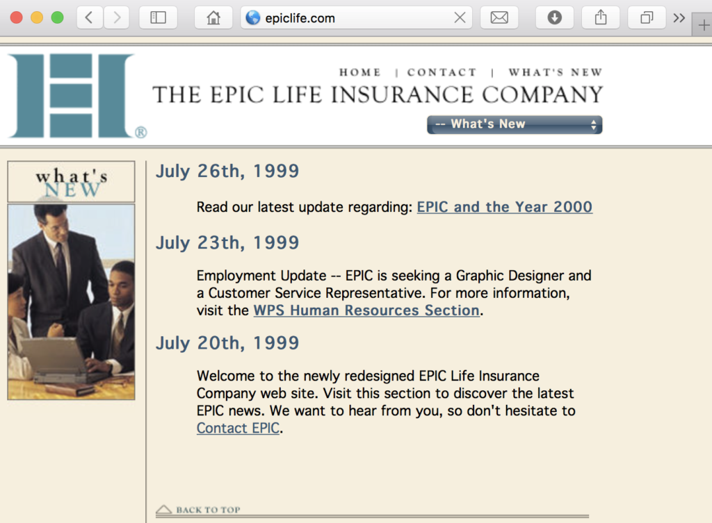 Parr Designs New Site For EPIC Life Insurance